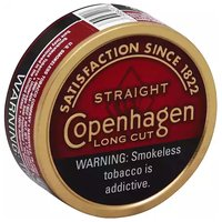 Copenhagen Long Cut Straight Tobacco, Smokeless, 1 Each