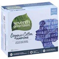 7th Generation Organic Cotton Tampons, Regular, 18 Each