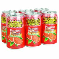 Aloha Maid Passion Orange, Cans (Pack of 6), 11.5 Ounce