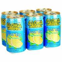 Aloha Maid Iced Tea, Lemon, Cans (Pack of 6), 11.5 Ounce