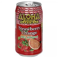 Aloha Maid Strawberry Orange, Cans (Pack of 6), 11.5 Ounce