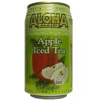 Aloha Maid Apple Iced Tea, Cans (Pack of 6), 11.5 Ounce