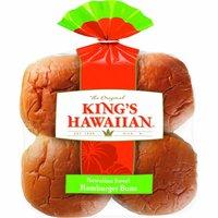 King's Hawaiian Sweet Hamburger Buns, 12.8 Ounce