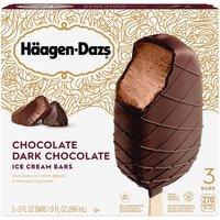 Haagen-Dazs Bars, Dark Chocolate, 3 Each