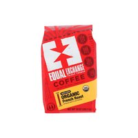 Equal Exchange Organic Coffee, French Roast Whole Bean , 10 Ounce