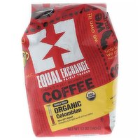 Equal Exchange Coffee, Whole Bean, Full City Roast, Colombian, 12 Ounce