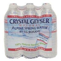 Crystal Geyser Alpine Spring Water, Bottles (Pack of 6), 16.9 Ounce