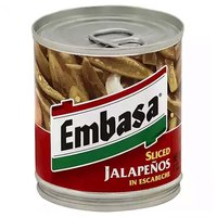 Embasa Jalapenos, Sliced In Escabeche, 7 Ounce