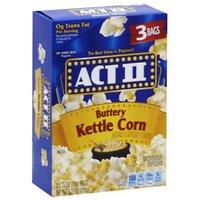 Act II Microwave Popcorn, Buttery Kettle Corn, 8.25 Ounce