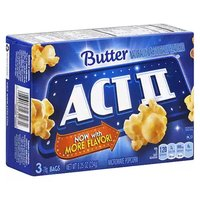 Act II Microwave Popcorn, Butter, 8.25 Ounce