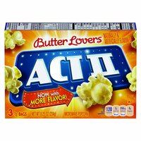 Act II Microwave Popcorn, Butter Lovers , 8.25 Ounce