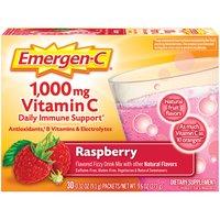 Emergen C Vitamin C, Raspberry, 30 Each