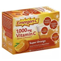 Emergen-C Vitamin C, Super Orange, 30 Each