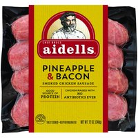 Aidells Chicken Sausage, Pineapple & Bacon, 12 Ounce