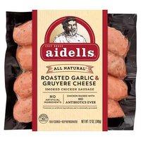 Aidells Chicken Sausage, Roasted Garlic & Gruyere, 12 Ounce