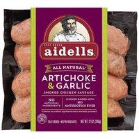 Aidells Chicken Sausage, Artichoke & Garlic Smoked, 12 Ounce