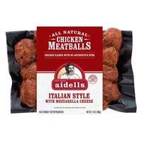 Aidells Italian Style Chicken Meatballs with Mozzarella Cheese, 12 Ounce