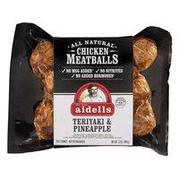 Aidells Chicken Meatballs, Teriyaki & Pineapple, 12 Ounce