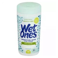 Wet Ones Sensitive Skin Hand Wipes, 40 Each