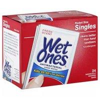 Wet Ones Antibacterial Hand Wipes, 24 Each