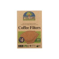 If You Care Cone Coffee Filters, Brown, #4, 100 Each