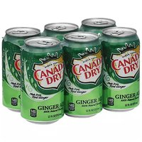 Canada Dry Ginger Ale, Cans (Pack of 6), 12 Ounce