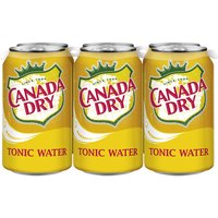 Canada Dry Tonic Water, Cans (Pack of 6), 12 Ounce