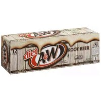 A&W Diet Root Beer, Cans (Pack of 12), 12 Ounce
