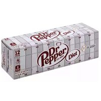 Diet Dr. Pepper, Cans (Pack of 12), 12 Ounce