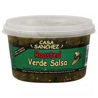 Casa Sanchez Salsa, Green Roasted Salsa Verde, Medium, 15 Ounce