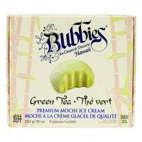 Bubbies Mochi Ice Cream, Green Tea, 6 Each