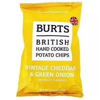 Burts British Potato Chips, Mature Cheddar & Green Onion, 5.3 Ounce