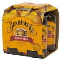 Bundaberg Ginger Beer, Bottles (Pack of 4), 375 Millilitre