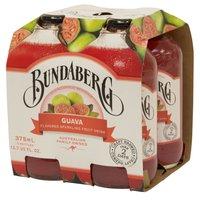 Bundaberg Sparkling Drink, Guava, Bottles (Pack of 4), 375 Millilitre