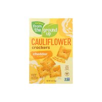 From The Ground Up Cauliflower Crackers, Cheddar, 4 Ounce