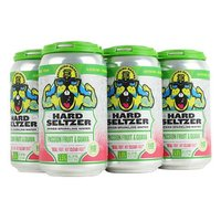 Belching Beaver Hard Seltzer, Passion Fruit & Guava, Can (Pack of 6), 12 Ounce