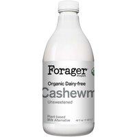 Forager Organic Plain Cashewmilk, Unsweetened, 48 Ounce