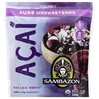 Sambazon Organic Pure Açai Berry, Unsweetened, 3.53 Ounce