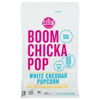 Angie's Boom Chicka Pop Popcorn, White Cheddar, 4.5 Ounce