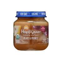 Happy Baby Organic Baby Food, Pears & Prunes, Stage 2, 4 Ounce