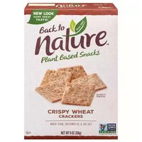 Back to Nature Wheat Crackers, Crispy, 8 Ounce