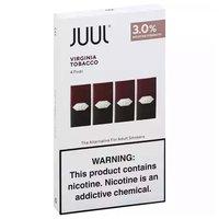 Juul Pods, Virginia Tobacco, 3.0% , 4 Each