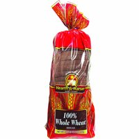 Hearth Harvest 100% Whole Wheat Bread, 22 Ounce