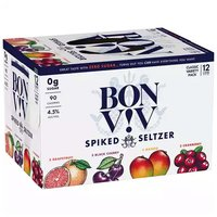 Bon V!V Spiked Seltzer, Variety Pack, Cans (Pack of 12), 12 Ounce