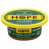 Hope Organic Jalapeno Cilantro Hummus, 8 Ounce