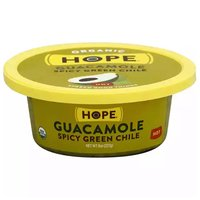 Hope Organic Spicy Green Chile Guacamole, Hot, 8 Ounce