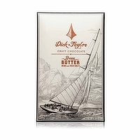 Dick & Taylor Craft Chocolate, Brown Butter w/ Nibs and Sea Salt, 2 Ounce