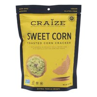 Craize Toasted Crisps, Sweet Corn, 4 Ounce