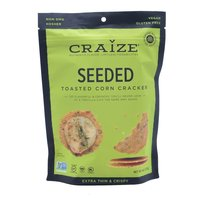 Craize Toasted Crisps Seeded, 4 Ounce