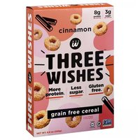 3 Wishes G/f Cereal Cinnamon, 8.6 Ounce